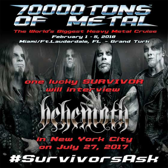 70000TONS OF METAL 2018 First 20 Bands Announced Sales