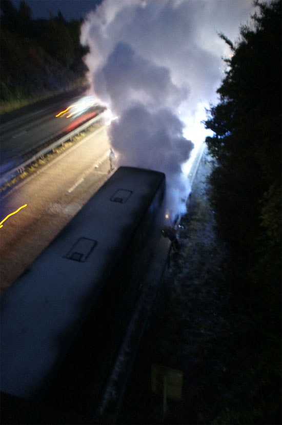 tourbus fire